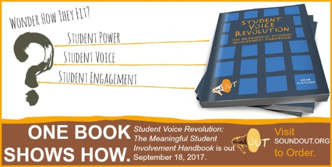 Student Voice Revolution: The Meaningful Student Involvement Handbook by Adam Fletcher http://amzn.to/2xL3obn