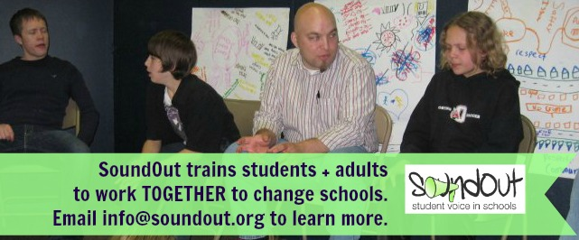 SoundOut trains students and adults to work together to improve education!