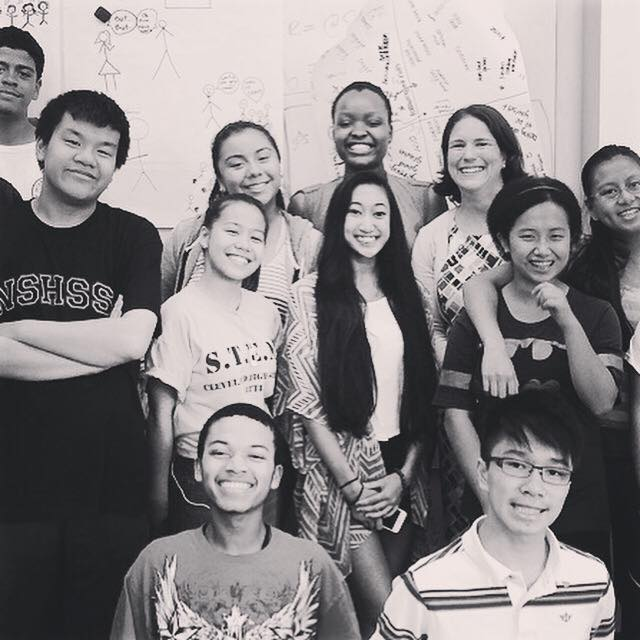 SoundOut students with a school administrator