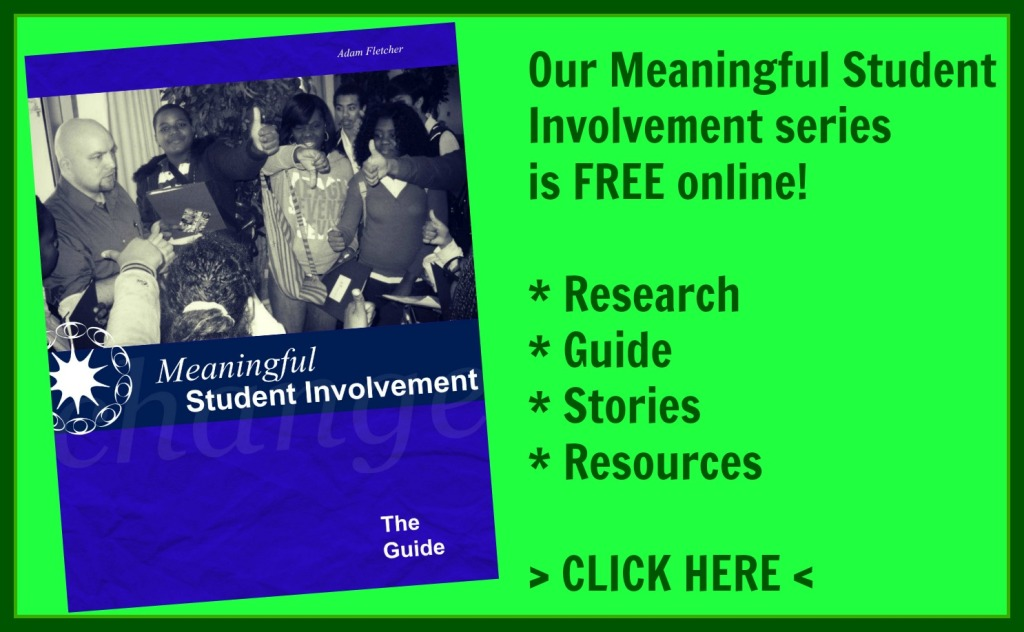 Your FREE copies of the Meaningful Student Involvement series are online at soundout.org