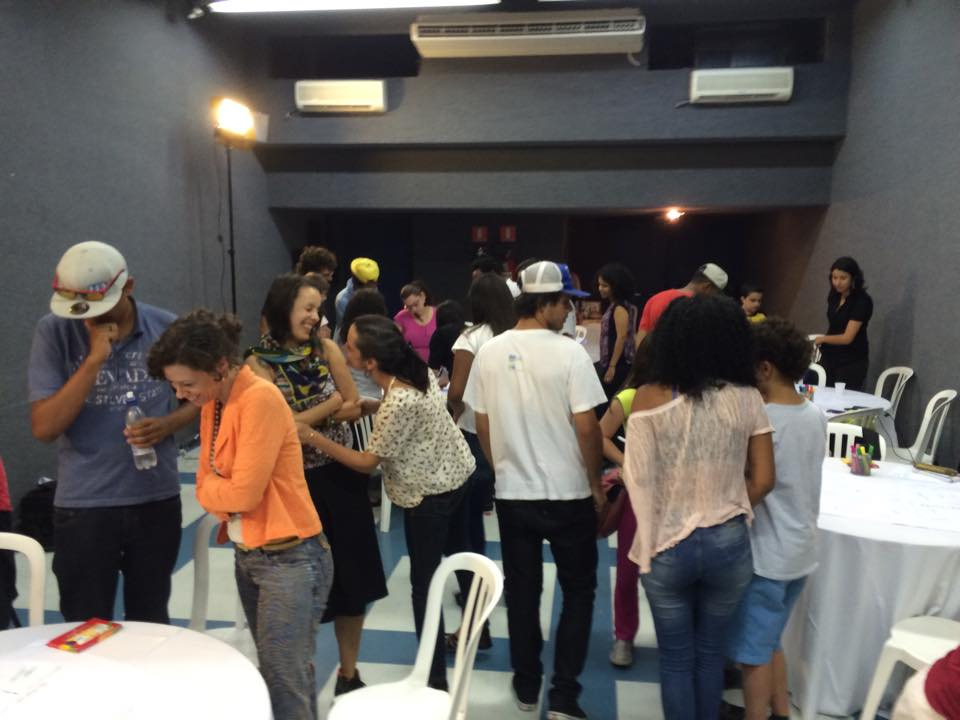 Students and educators in a SoundOut workshop in São Paulo, Brazil in 2014.
