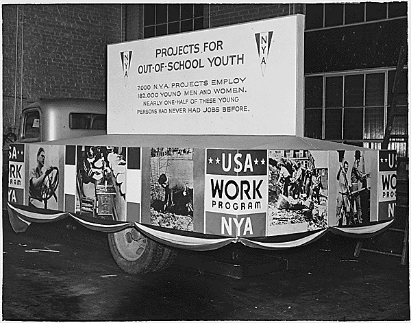 In 1937, the U.S. National Youth Administration was providing services for out-of-school youth and others.