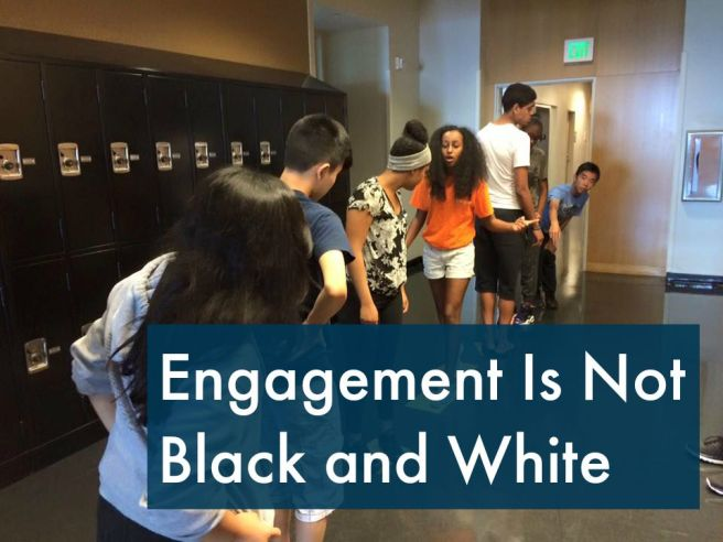 Engagement is Not Black and White - Students at the SoundOut Summer Camp