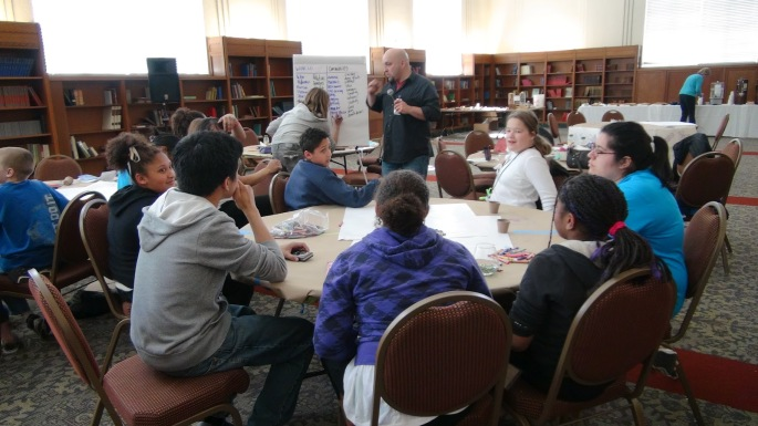 Middle school students in a SoundOut planning workshop in Washington State.