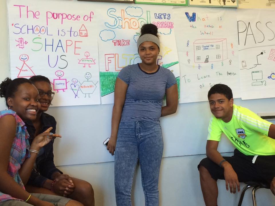 Students at the 2015 SoundOut Student Voice Summer Camp at Cleveland High School in Seattle.