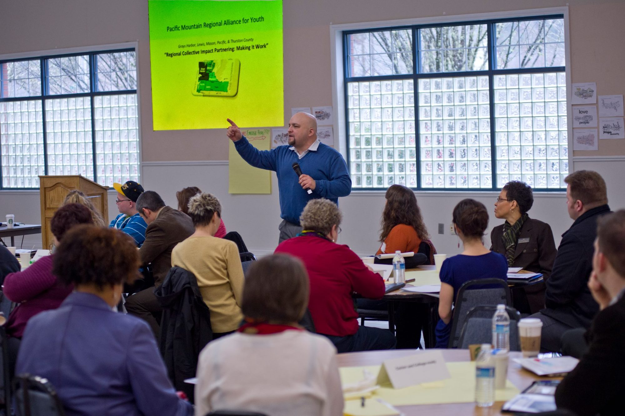 This is Adam Fletcher speaking at the Western Washington Youth Alliance Collective Impact Conference in 2014.