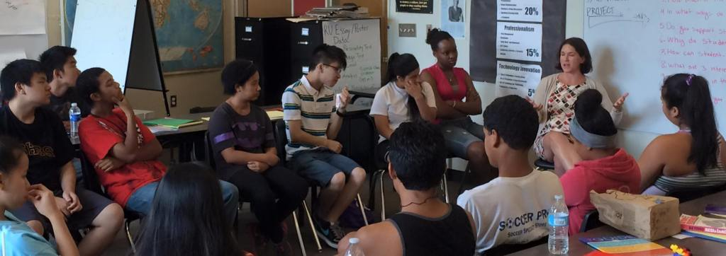 SoundOut students deliberate on important issues in a Seattle high school.