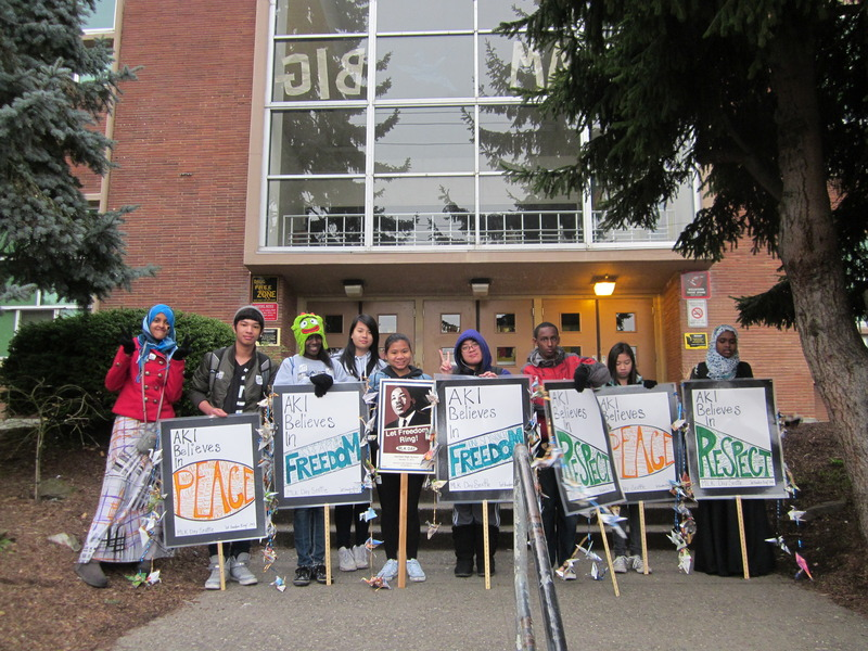 SoundOut students in Seattle share their picket signs celebrating student voice.