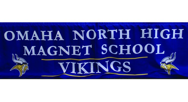Omaha North High vikings banner