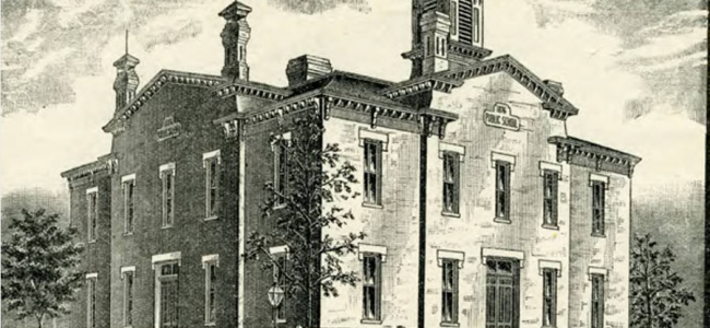 This was the Dodge Street School in Omaha, Nebraska from circa 1872 to circa 1920.