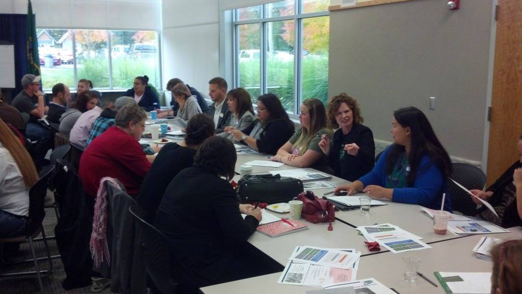 SoundOut participants in a collective impact activity for students and educators.