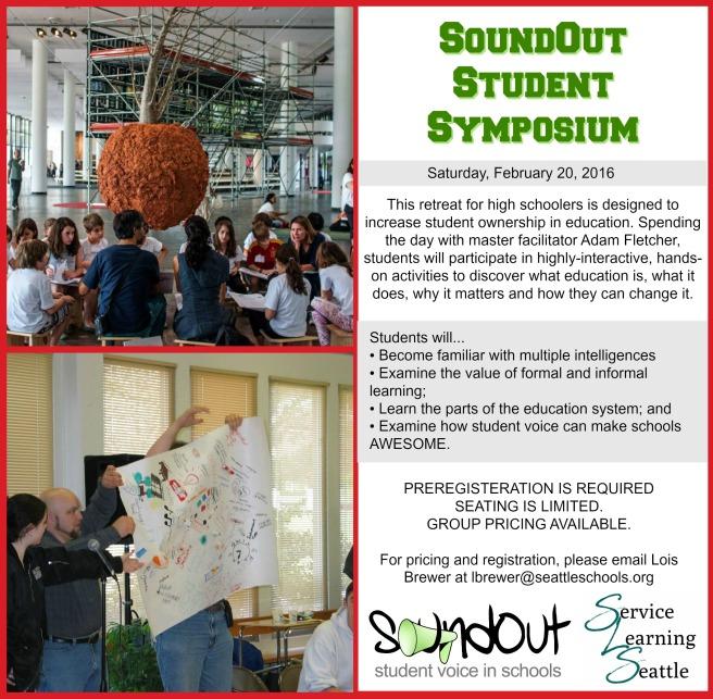 SoundOut Student Symposium Flyer